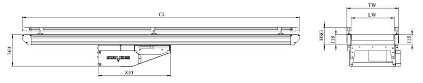 kích thước băng tải belt khung thép chi tiết