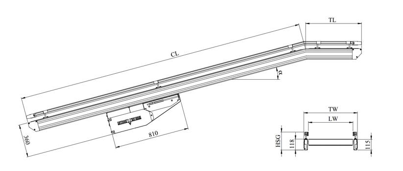 kích thước kỹ thuật băng tải