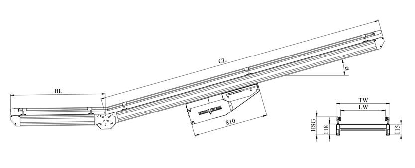 kích thước kỹ thuật băng tải belt khung nhom