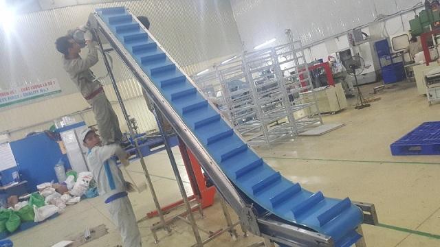 cấu tạo băng tải nghiêng cấp liệu