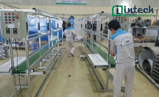 sản xuất băng chuyền đơn tại intech