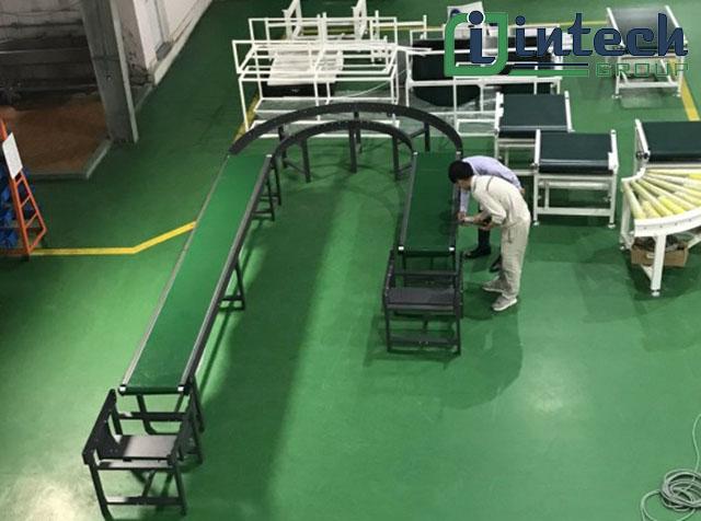 ứng dụng hệ thống băng tải trong sản xuất
