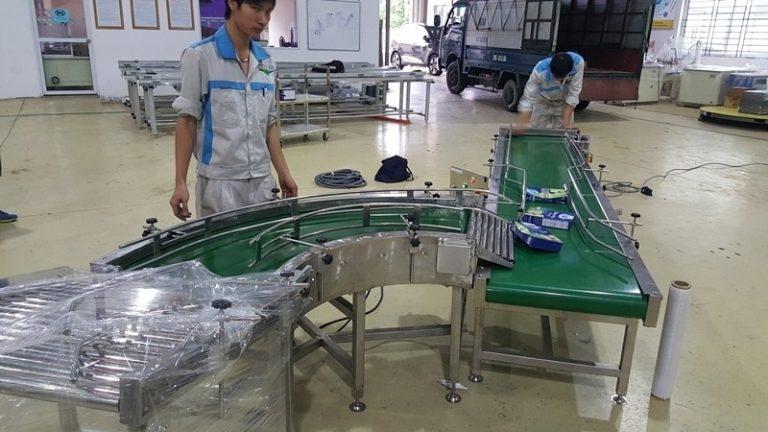 ứng dụng hệ thống băng tài trong sản xuất