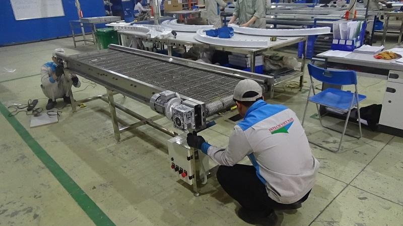 cấu tạo băng tải lưới inox