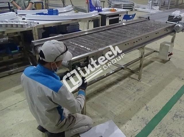 ưu điểm của băng tải lưới inox intech