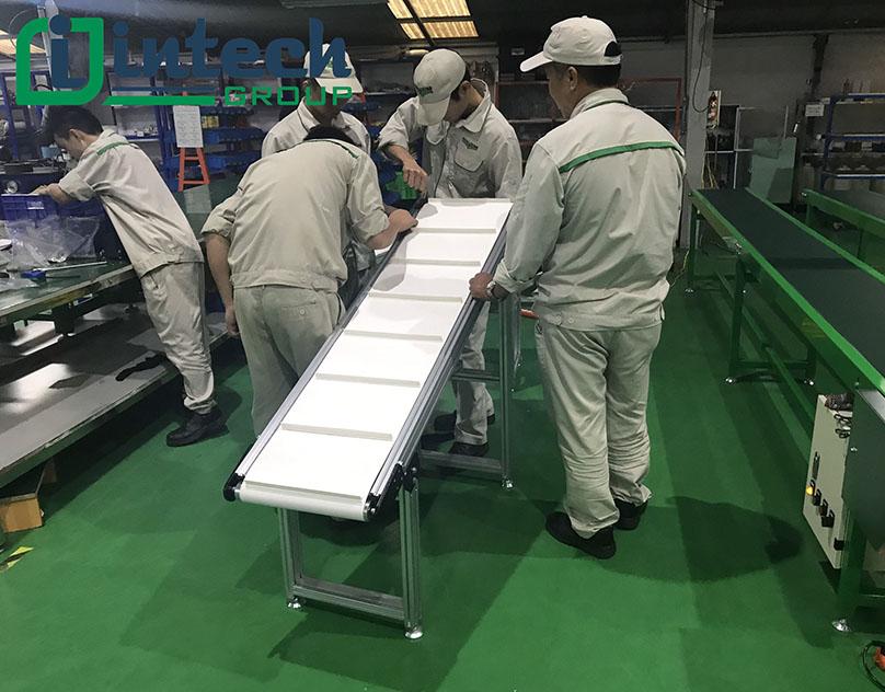 Băng tải PVC trắng Intech