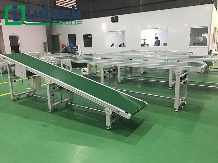 Thông số kỹ thuật băng tải PVC nghiêng