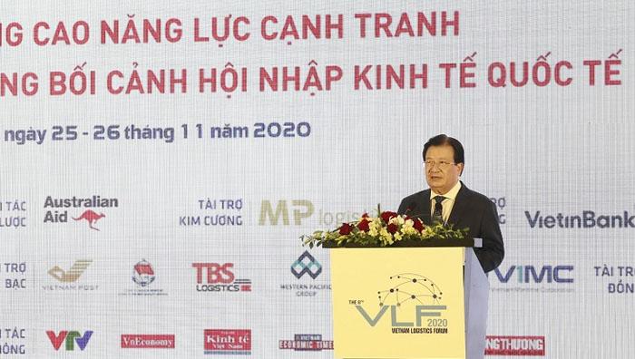 Phó Thủ tướng Trịnh Đình Dũng phát biểu tại Diễn đàn Logistics Việt Nam 2020