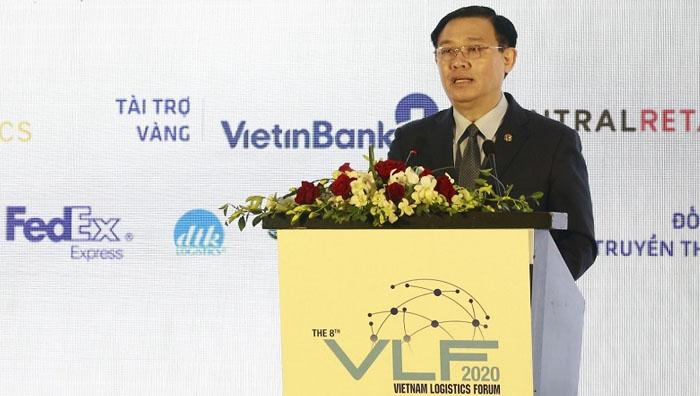 Bí thư Thành ủy Hà Nội Vương Đình Huệ phát biểu